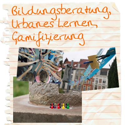 Titelbild des Fachbereiches BUG: Bildungsberatung, Urbanes Lernen, Gamifizierung