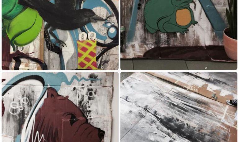 Impressionen vom Graffiti-Workshop der SG1