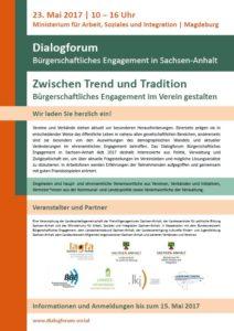 Dialogforum - Vereine zwischen Trend und Tradition @ Ministerium für Arbeit, Soziales und Integration