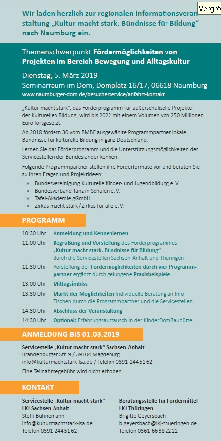 Flyer Infoveranstaltung Naumburg
