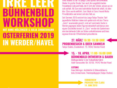 Bühnenbildworkshop zum Theaterstück CLARA in Werder/Havel
