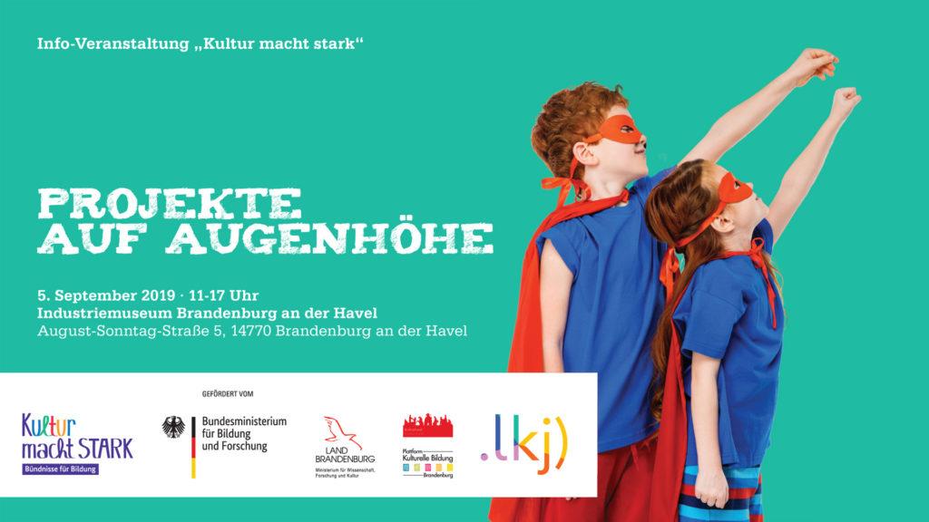"Flyer ""Kultur macht stark"" Brandenburg"