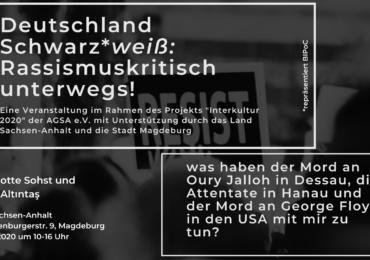 Deutschland Schwarz*-Weiß – rassismuskritisch unterwegs