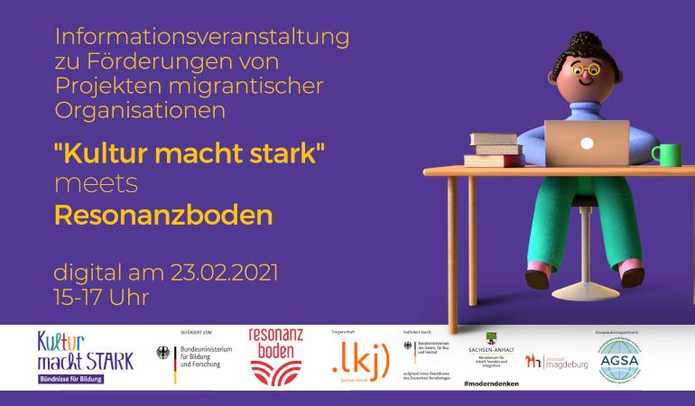 »Kultur macht stark meets Resonanzboden«   Informationsveranstaltung zur Förderung von Projekten migrantischer Organisationen