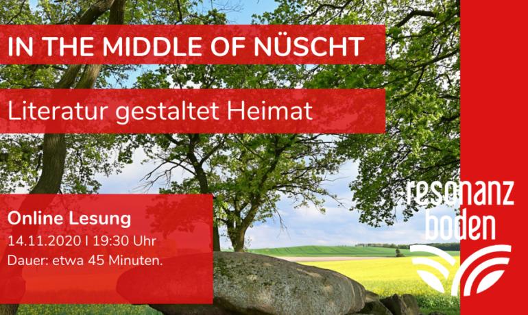 Online Lesung // In the Middle of Nüscht - Literatur gestaltet Heimat