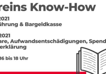 Vereins Know-how  Buchführung & Bargeldkasse  Honorare, Aufwandsentschädigungen, Spenden, Steuererklärung