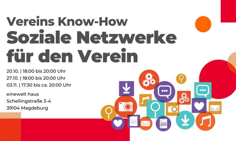 Vereins Know-how | Soziale Netzwerke für den Verein Seminarreihe Basiswissen zu Sozialen Netzwerken mit Fokus auf Facebook