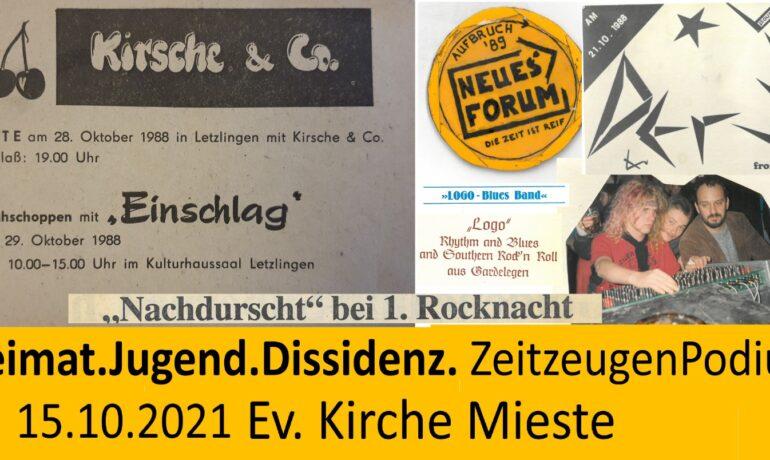 """Zeitzeugengespräch """"Rock und Dissidenz"""""""
